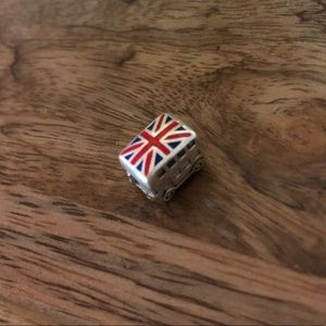 Authentic Pandora sterling silver GB flag charm